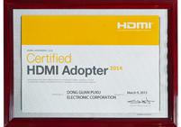 普旭HDMI协会会员证书