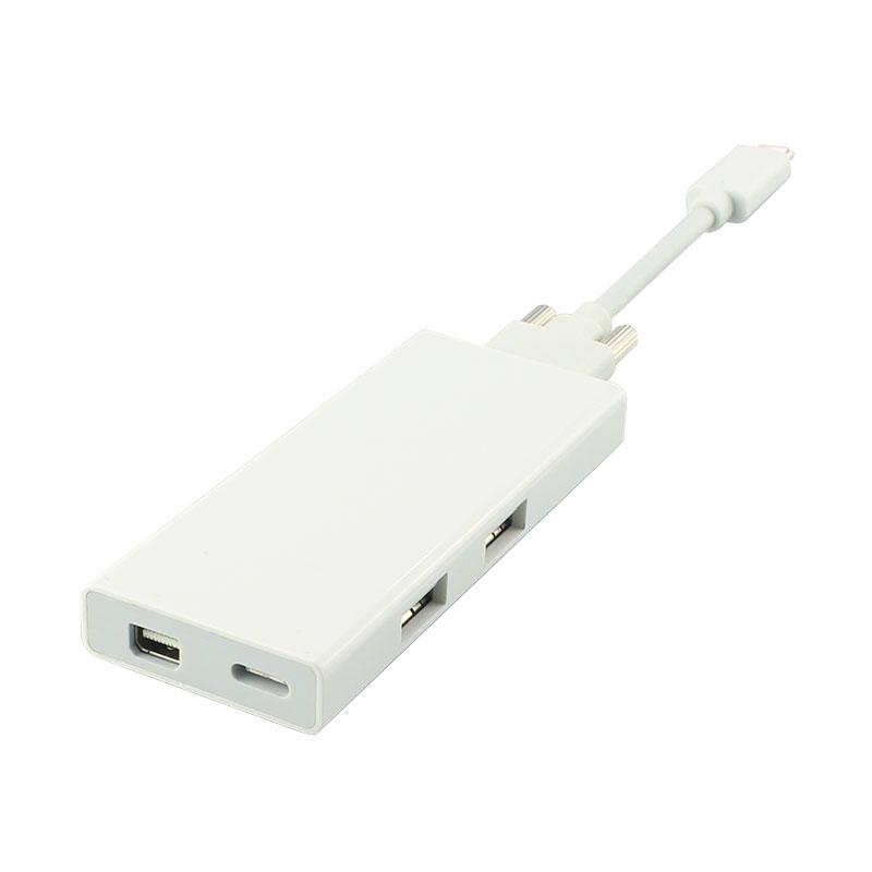 TYPE C扩展坞,USB-C转Mini DP+USB2.0+PD3.0信号转换