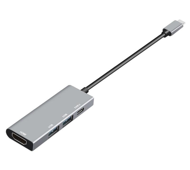 4口USB Type-C扩展坞