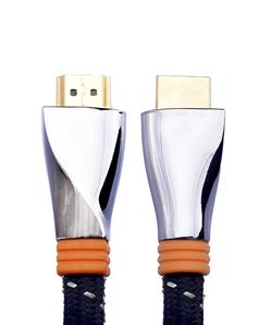 posh-e普旭 高档金属扭面HDMI高清线(镀银线)